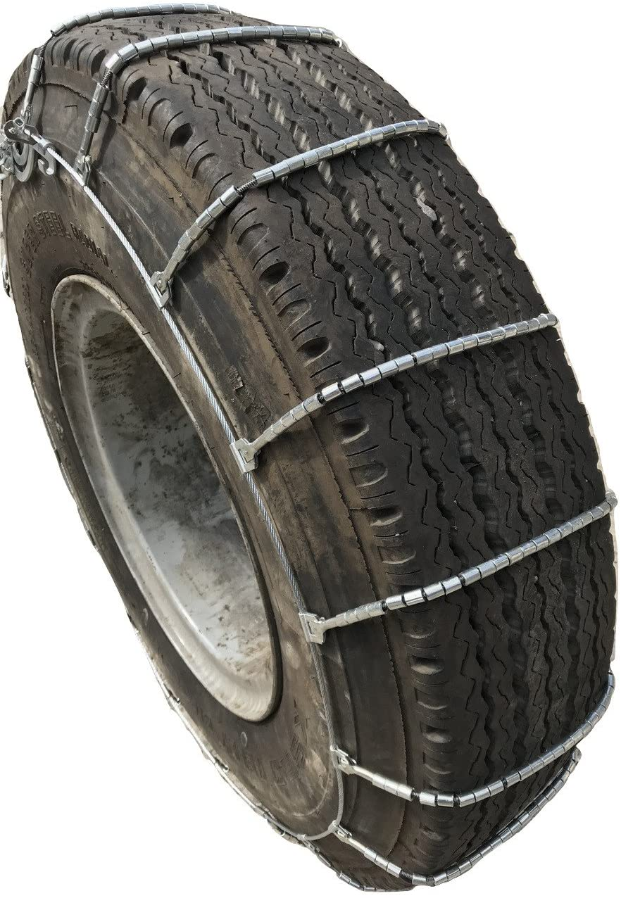 TireChain.com 2317 11R-24.5, 11 24.5 Cable Tire Chains with Cam Set of 2