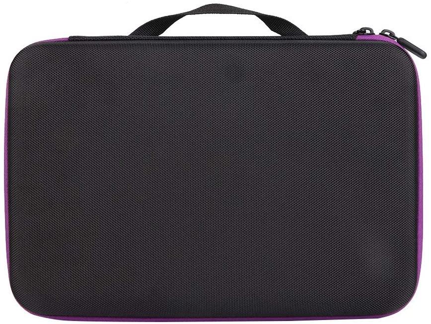 wosume Essential Oil Holder, Portable 19 Slots EVA Holder Storage Bag Container(Purple)