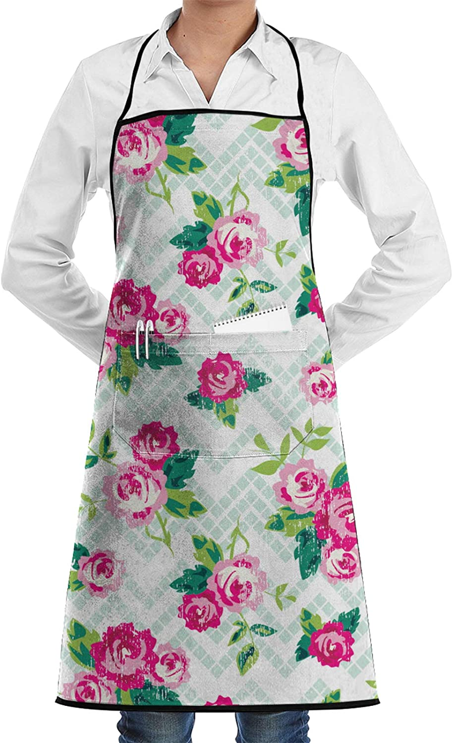 POYOMUK Unisex Adjustable Bib Apron Cooking Chef Apron - with Pockets,Waterproof, Resistant to Droplets, Durable, Machine Washable, Comfortable, Easy Care Apron