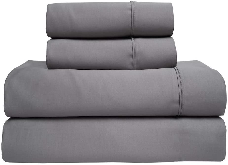 Elite Home T350 Bamboo Sheet Set, Twin XL, Dark Grey