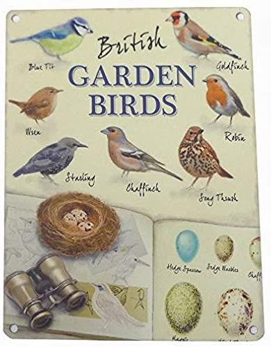 Ufcell Retro Tin Sign 8x12 British Garden Birds Wall Decor Home Decor Bar Pub Sign