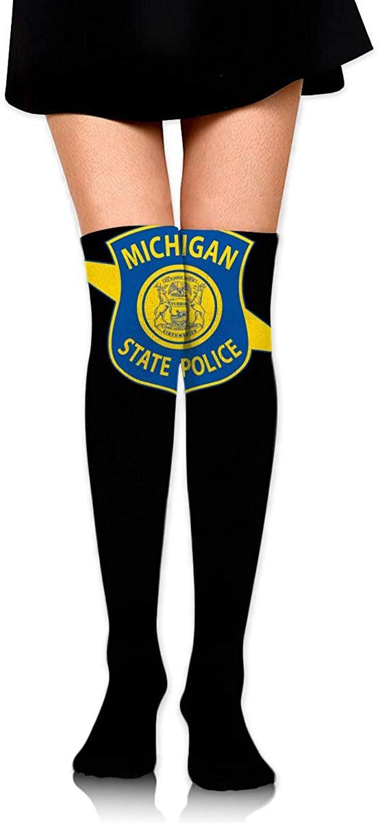 Michigan State Police Womens Over Knee Thigh High Socks Stockings Knee High Tube Sock