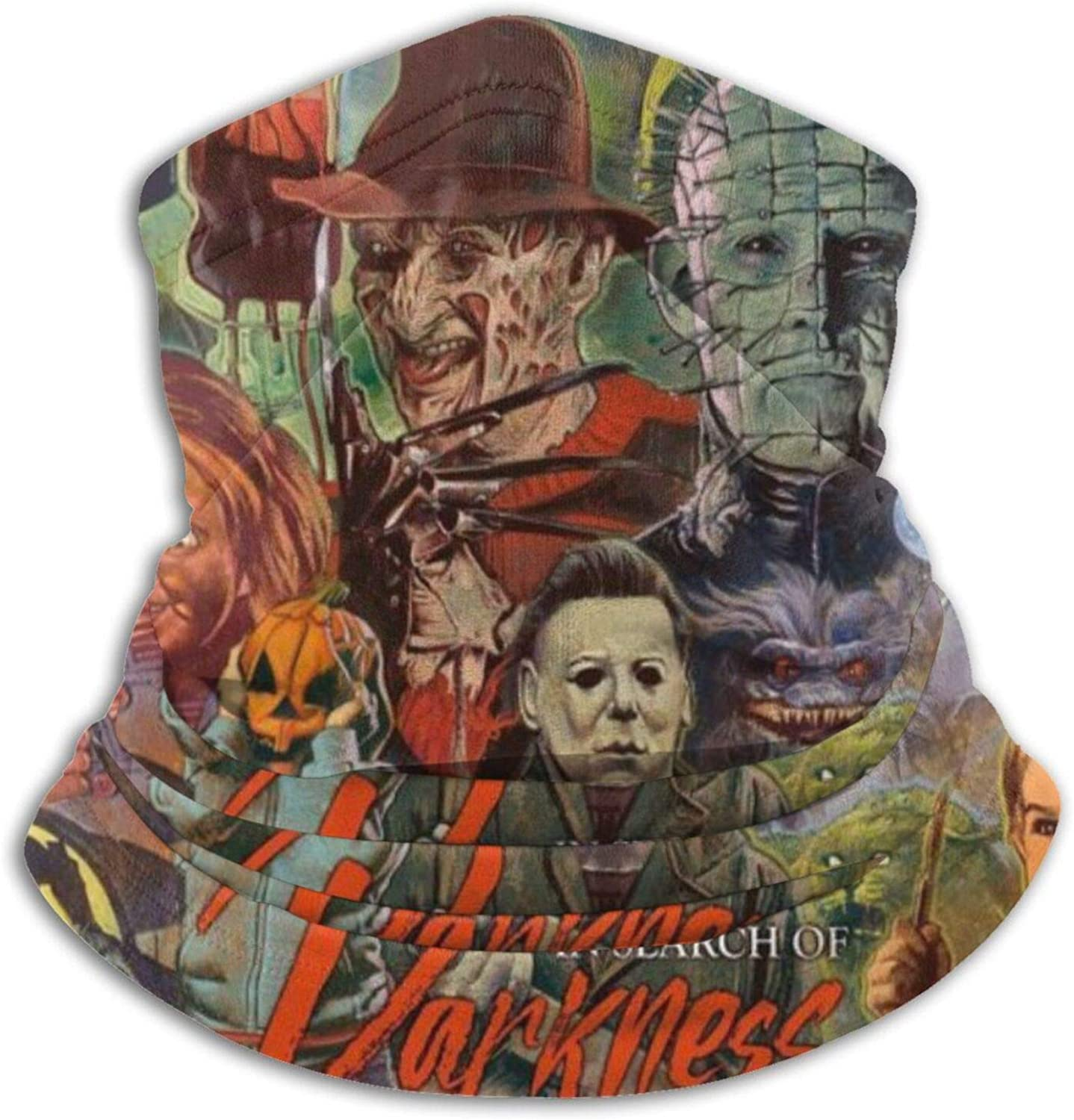 ETONKIDD Jason Voor-Hees Fre-Ddy Krue-Ger Mich-Ael My-Ers Face Mask Neck Gaiter Magic Scarf