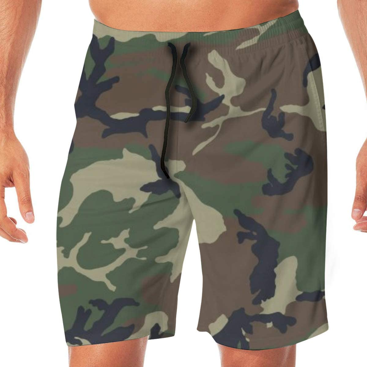 GARDE ART STUDIO Men Casual Beach Shorts Swim Trunks Quick Dry Half Pants