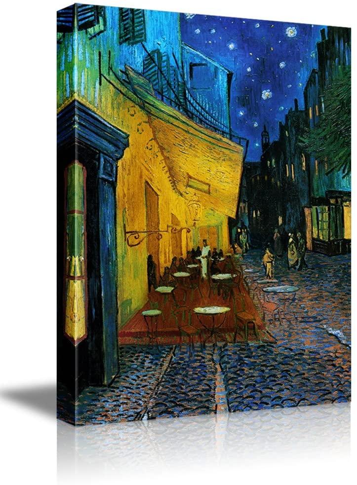 wall26 - Cafe Terrace at Night Vincent Van Gogh - Canvas Art Wall Art -16