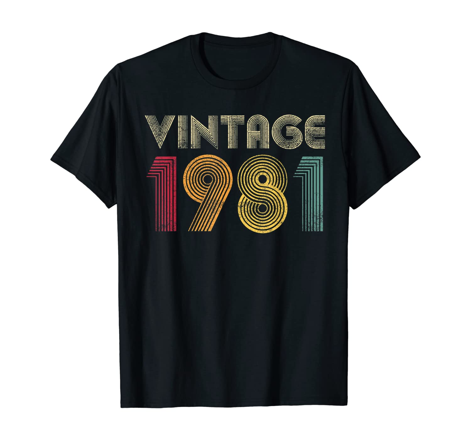 Vintage 1981 40th Birthday Gift Retro Men Women 40 Years Old T-Shirt