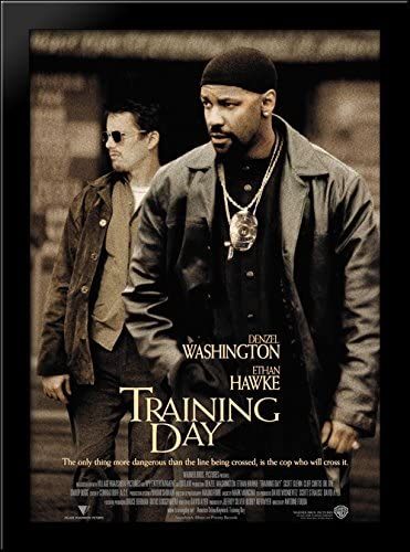 Training Day 28x38 Large Black Wood Framed Print Movie Poster Art