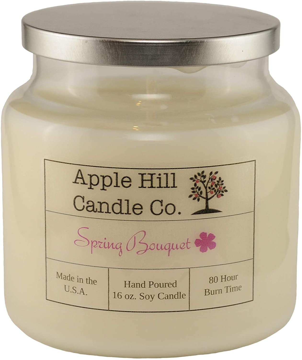 Spring Bouquet (Peony, Magnolia, and Freesia) - 16 oz. Handmade Natural Soy Candle   ~80 Hour Burn Time