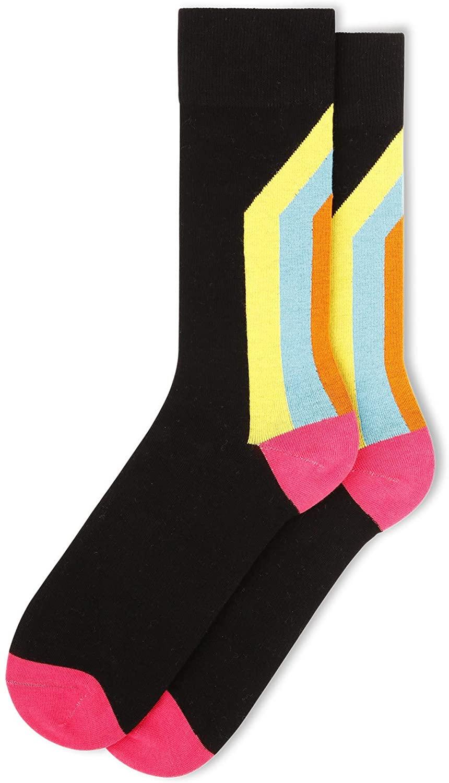 FUN Socks - Men's Vintage Varsity Cotton Crew Socks
