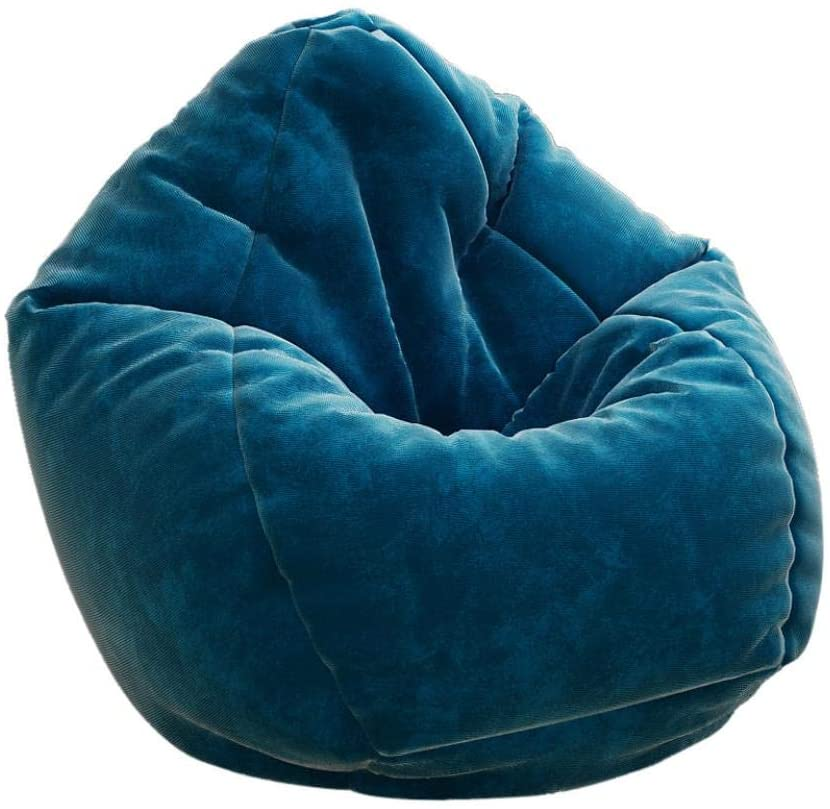 [US Stock] Sofa Sack -Bean Bag Chair Giant Memory Foam Furniture Bean Bag - Stuffed Foam Filled Furniture and for Dorm Room with Soft Cover (Blue)