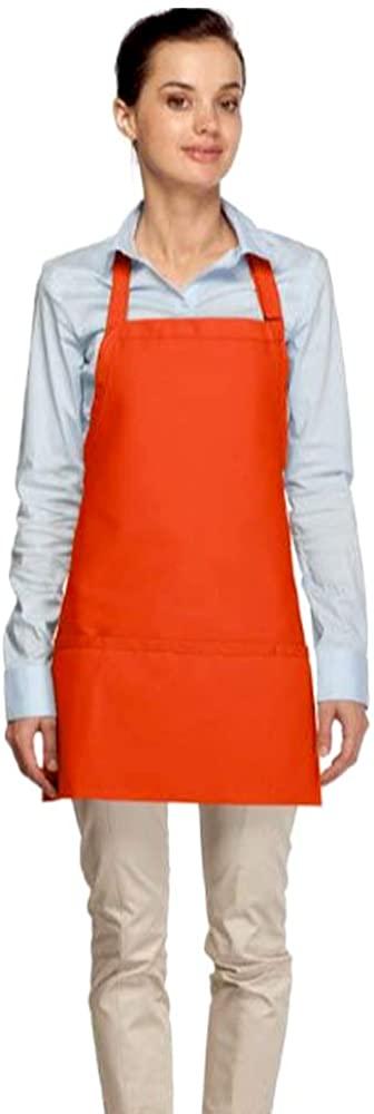 Averill's Sharper Uniforms Criss-Cross Three Pocket Bib Apron 3 pocket (Set of 6)