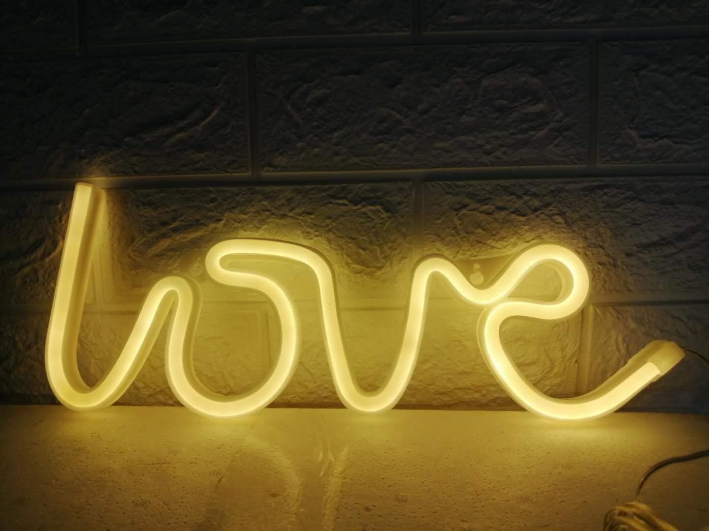 LDGJ Love Neon Signs, LED Neon Light for Party Supplies, Girls Room Decoration Accessory, Table Decoration,LED USB Children Kids Gifts