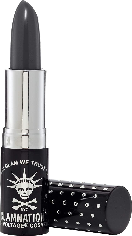 Manic Panic Alien Lethal Lipstick - Dark, Cool Slate Grey Lipstick - Kitten Colors Lipsticks - Rich, Velvety Matte Finish - Vegan & Cruelty Free - Long Lasting Moisturizing Vegan Gray Lip Stick