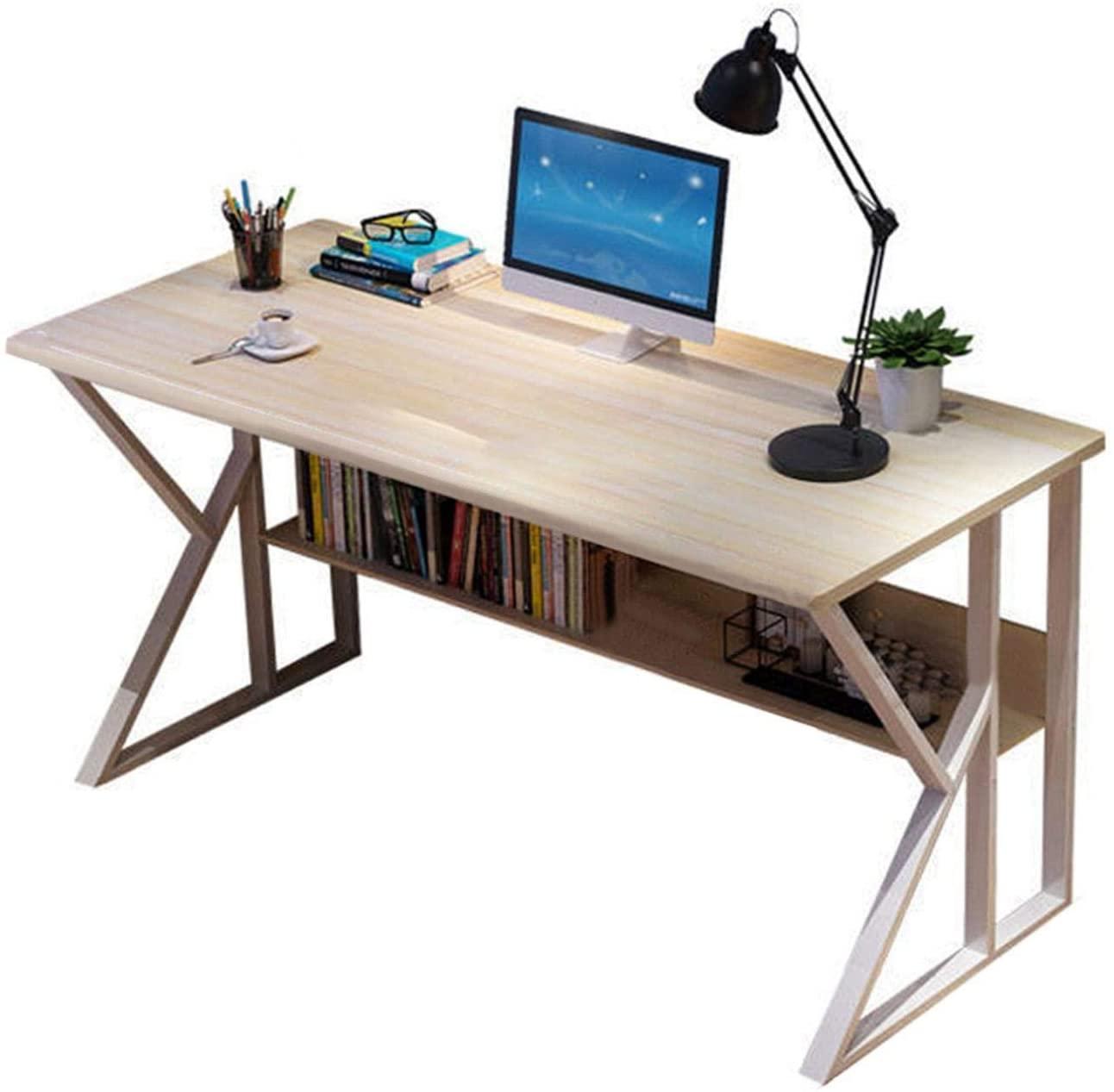 Smugglewhite Wood Color Simple Style Home Computer Desk, Office Desk Student Writing Table Modern Economical Computer Desktop Desk 23.6 x 28.8 inch