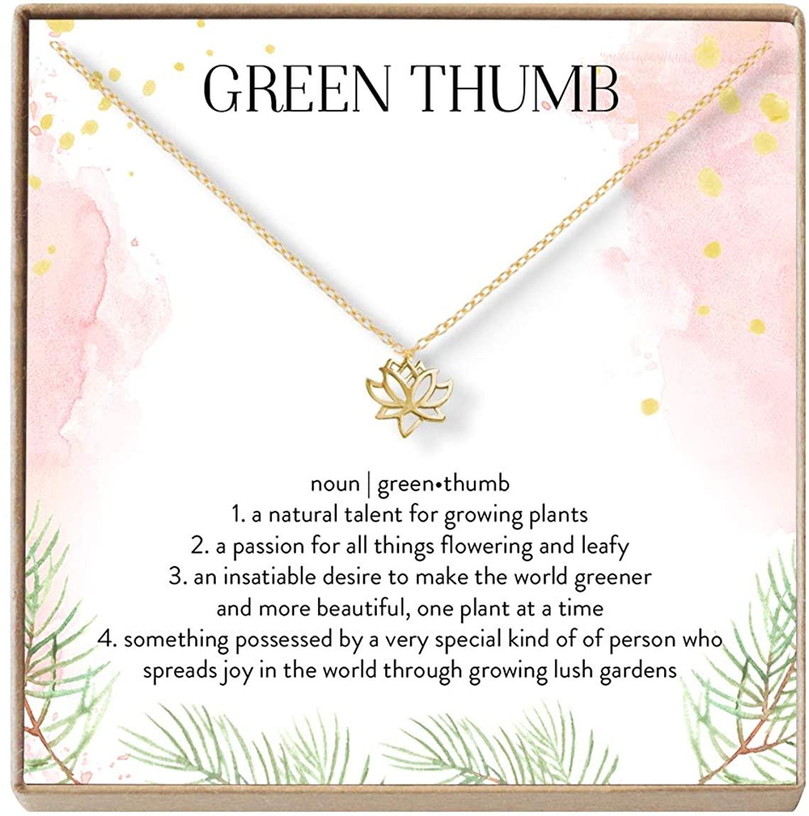 Gardener Christmas Necklace - Heartfelt Card & Jewelry Gift Set