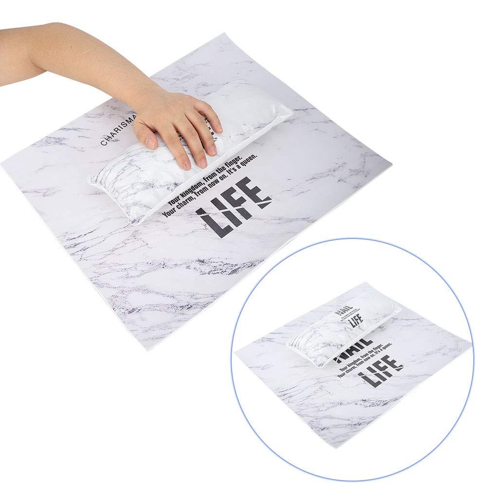 Nail Art Pillow, Nail Art Hand Pad, Nail Polish Hand Holder Washable Pillow Wrist Table Pad Portable Manicure Nail Art Hand Pillow Mat Manicure Tool(1#)