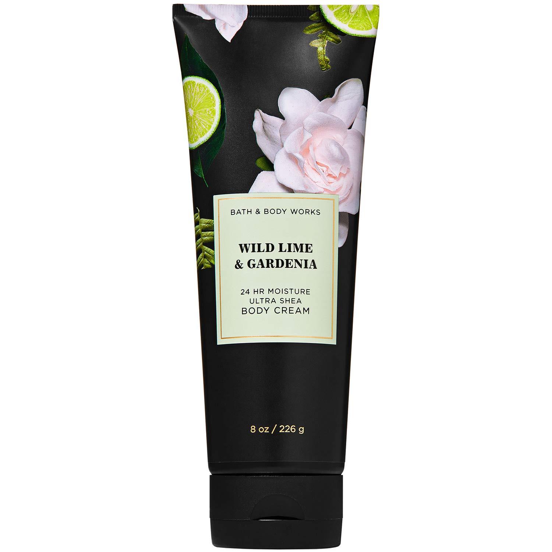 Bath and Body Works WILD LIME & GARDENIA Ultra Shea Body Cream 8 Ounce, 2020 Limited Edition
