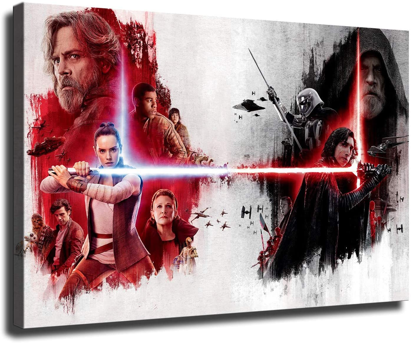 Star wars Canvas The Last Jedi HD printing wall decor art (16x24inch,No framed)