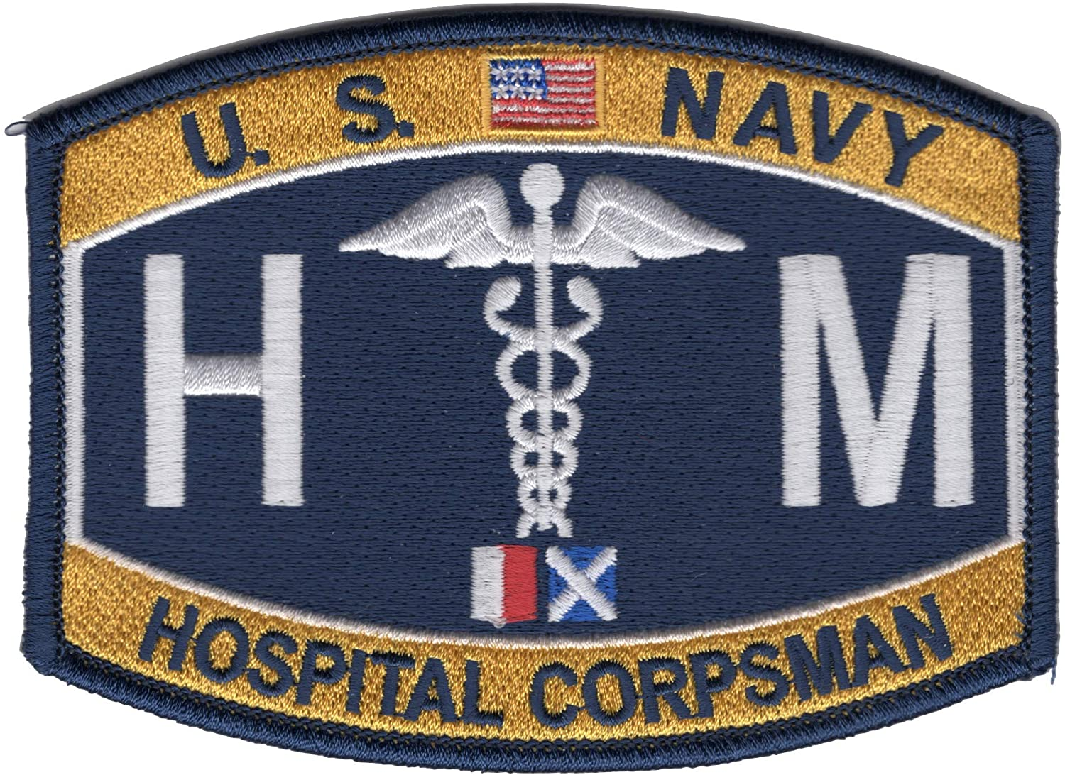 Navy Rating Hospital Corpsman Patch - HM