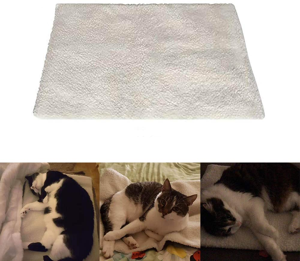 Konesky Pet Heating Pad,Self-Heating Cat Blanket for Cats and Dogs Innovative Environmentally Friendly Heated Cat Blanket 64X49CM