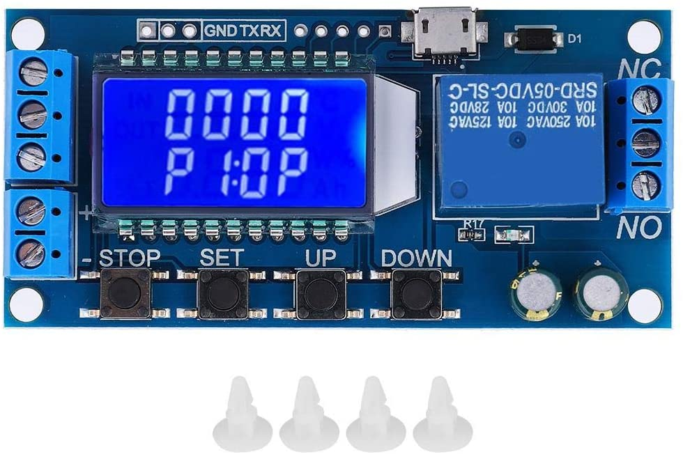 Fafeicy 5V 12V 24V 0.01s-9999min Time Delay Relay Module Delay Off Cycle Timer with LCD Display