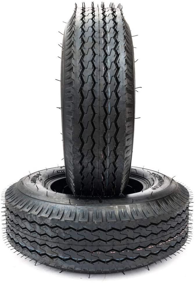 SET of 2 4.80/4.00-8 4 PR Bias Trailer Tires Tubeless 4.80-8 4.80x8 New