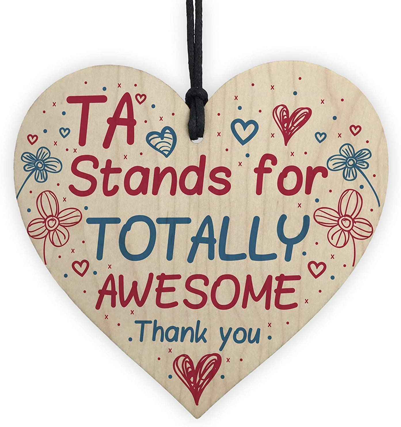 Rupert Gibsona TA Teaching Assistant Thank You Gifts Teacher End of Year School Leaving Art Decor Heart-Shaped Tin Sign Home House Coffee Beer Drink Bar