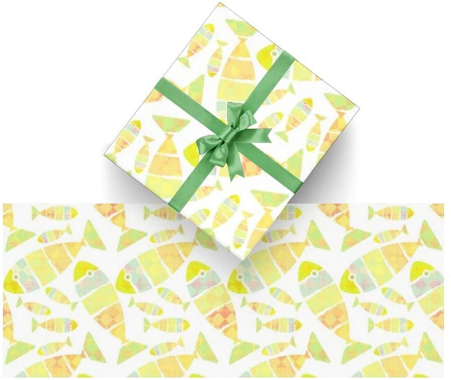 Wrapping Paper Fish for Christmas,Birthday,Valentines Day,Bridal or Baby Showers and More- 3Rolls - 58inch x 23inch Per Roll