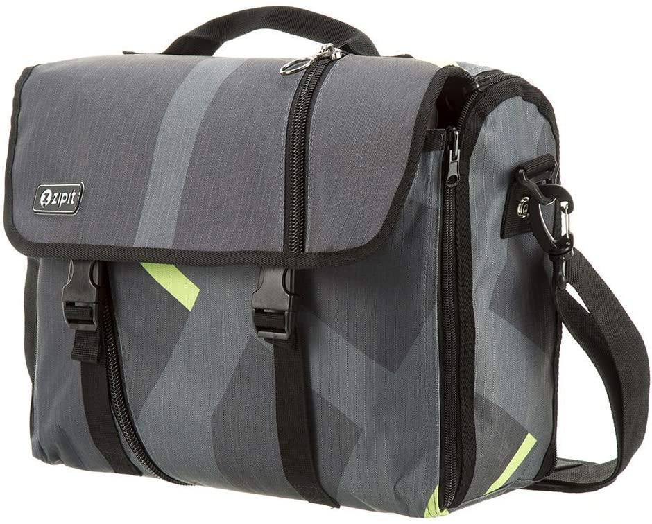 ZIPIT Reversible Messenger Bag, Grey & Green