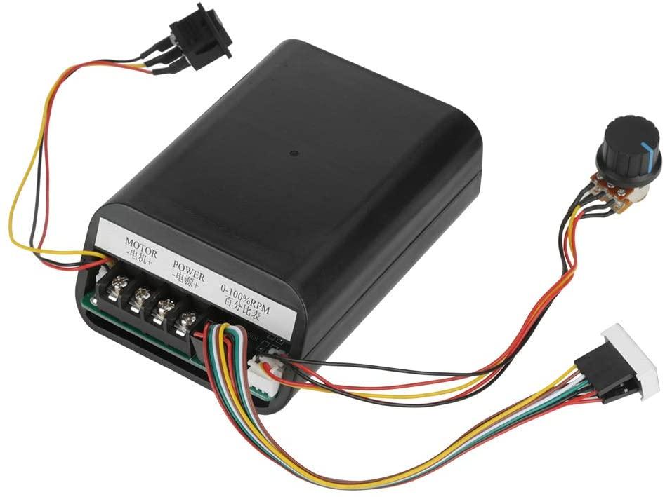 Nikou Motor Speed Controller, DC10-55V 40A Digital Display DC Motor Speed Control CW CCW Reversible Switch