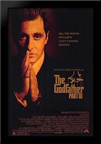 The Godfather Park III 28x40 Large Black Wood Framed Print Movie Poster Art