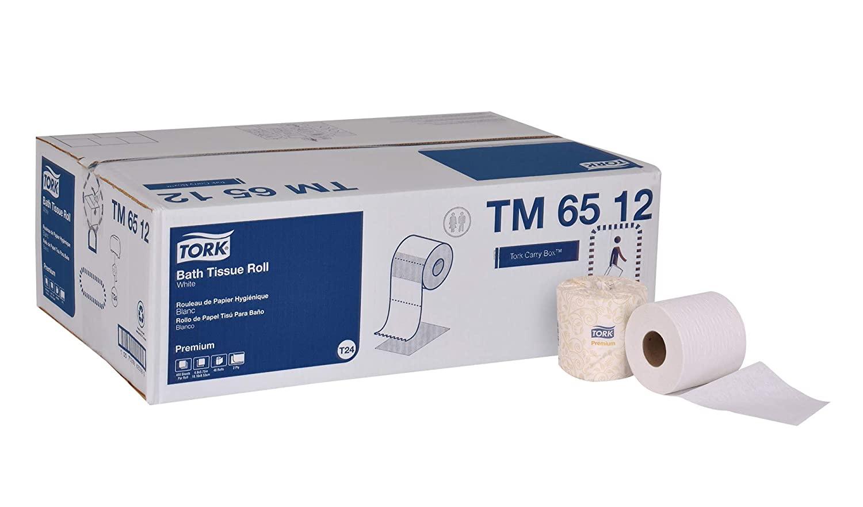 Tork Premium TM6512 Bath Tissue Roll, 2-Ply, 4