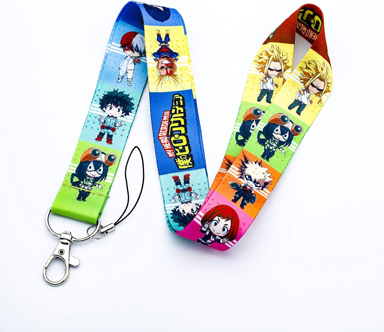 My Hero Academia Lanyard Key Chain ID Card Badge Holder Anime Lanyard for Fans (Colors)