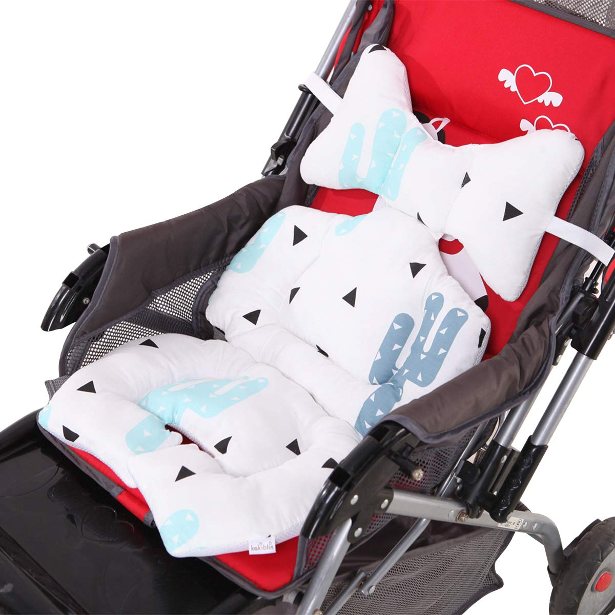 ROSEBEAR Infant Car Seat Insert, Baby Stroller Cushion Pram Liner Head Neck Body Support Pad