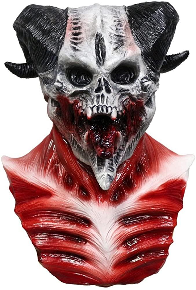 Halloween Latex Full Head Realistic Horror Demon Costume Accessories Devil Skull Mask