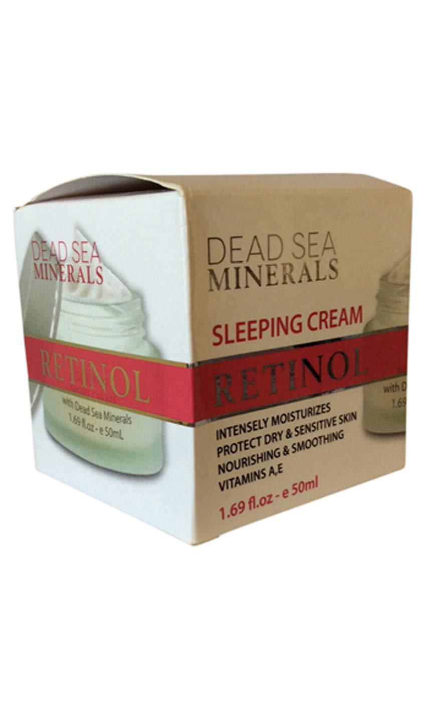 Dead Sea Minerals Retinol Moisturizer Sleeping Cream 1.69 Oz