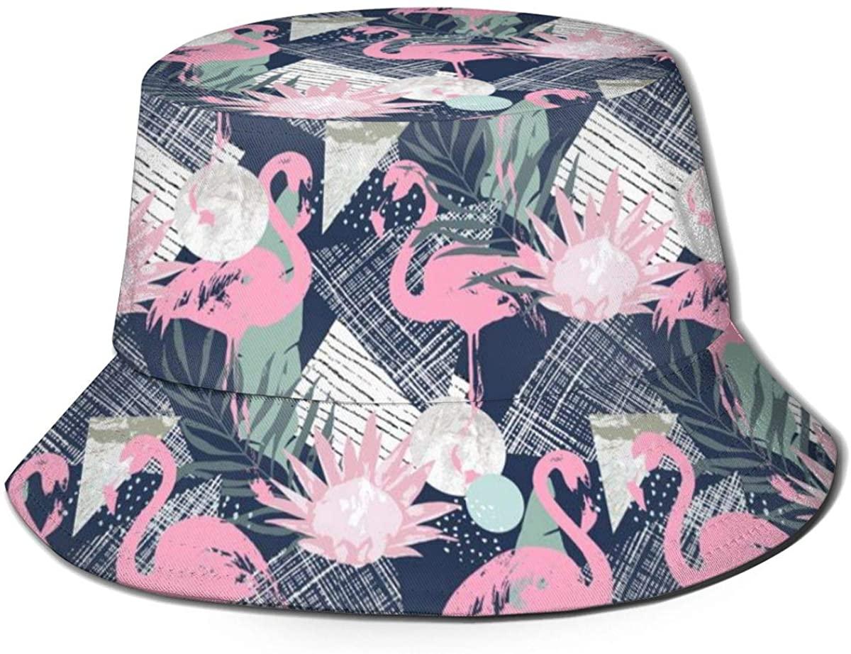 Unisex Bucket Hat Wide Brim Summer Fisherman Cap Fashion Packable Sun Hat