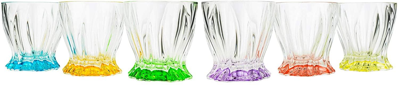 Bohemian Collection Multicolor 'Aurum' DOF Rocks Glasses Set of 6-pc
