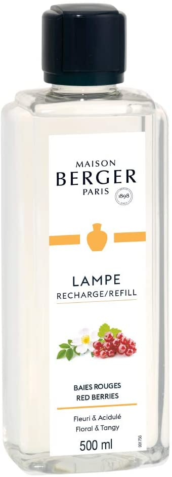 MAISON BERGER Red Berries Lampe Berger Refill for Home Fragrance Oil Diffuser, 16.9 Fluid Ounces-500 milliliters