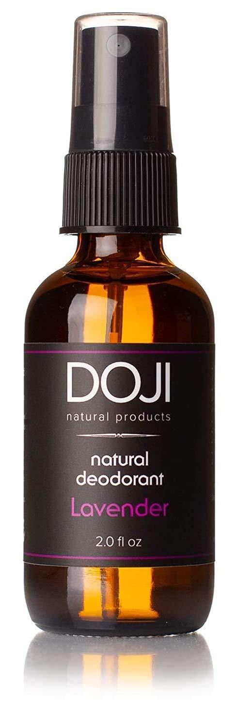 Doji Natural Deodorant Spray - Ultra-Effective, Aluminum-Free, Non-Staining, PH-Balanced, 100% Organic Ingredients, Vegan, Gluten Free, Cruelty Free (Lavender)