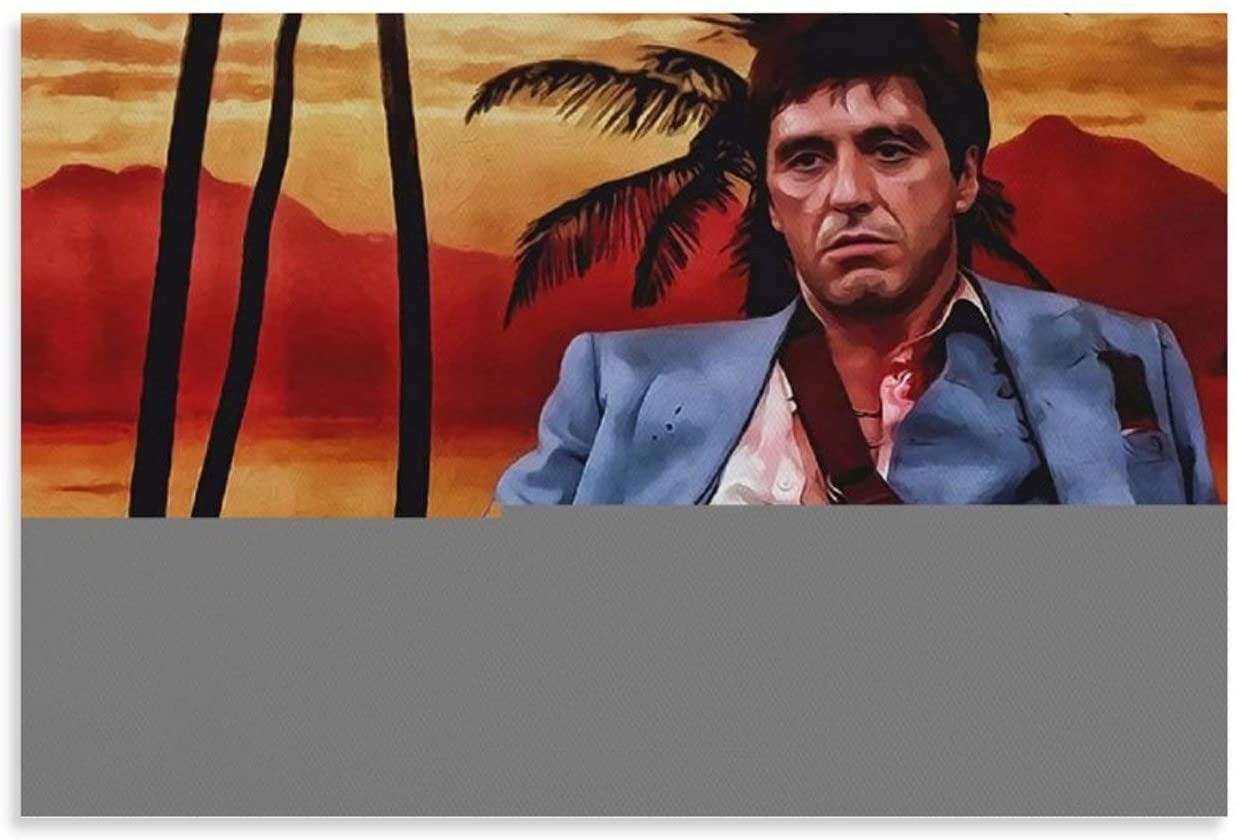 HUOHUO Tony Montana Pop Art Poster Decorative Painting Canvas Wall Art Living Room Posters Bedroom Painting 16x24inch(40x60cm)