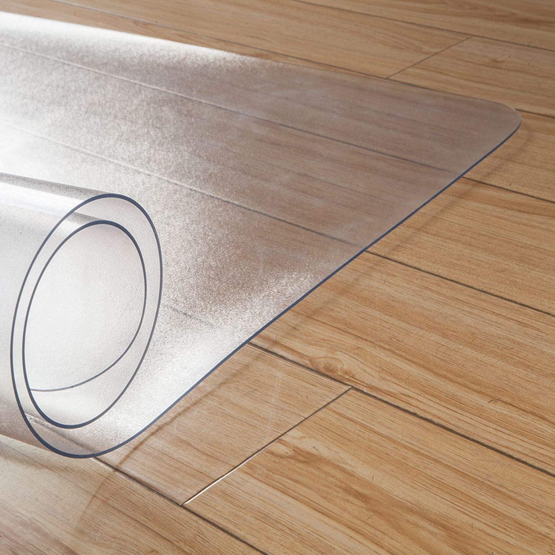 PVC Dull Polish Chair Mat Protection Floor Mat(47.2X 35.4X 0.1)