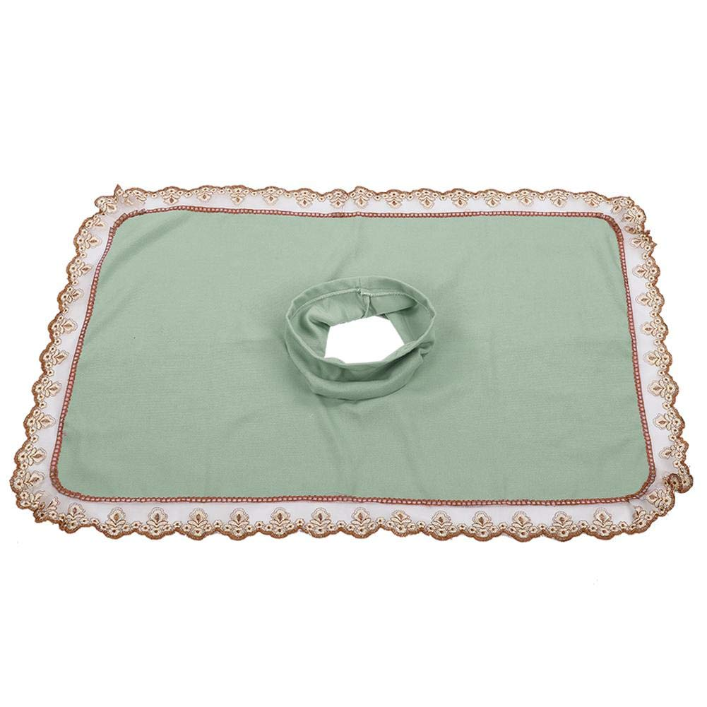 Spa Beauty Bed Sheet - Spa Massage Table Head Cover Sheet Massage Bed Coverlet with Hole for Beauty Shop(Green)
