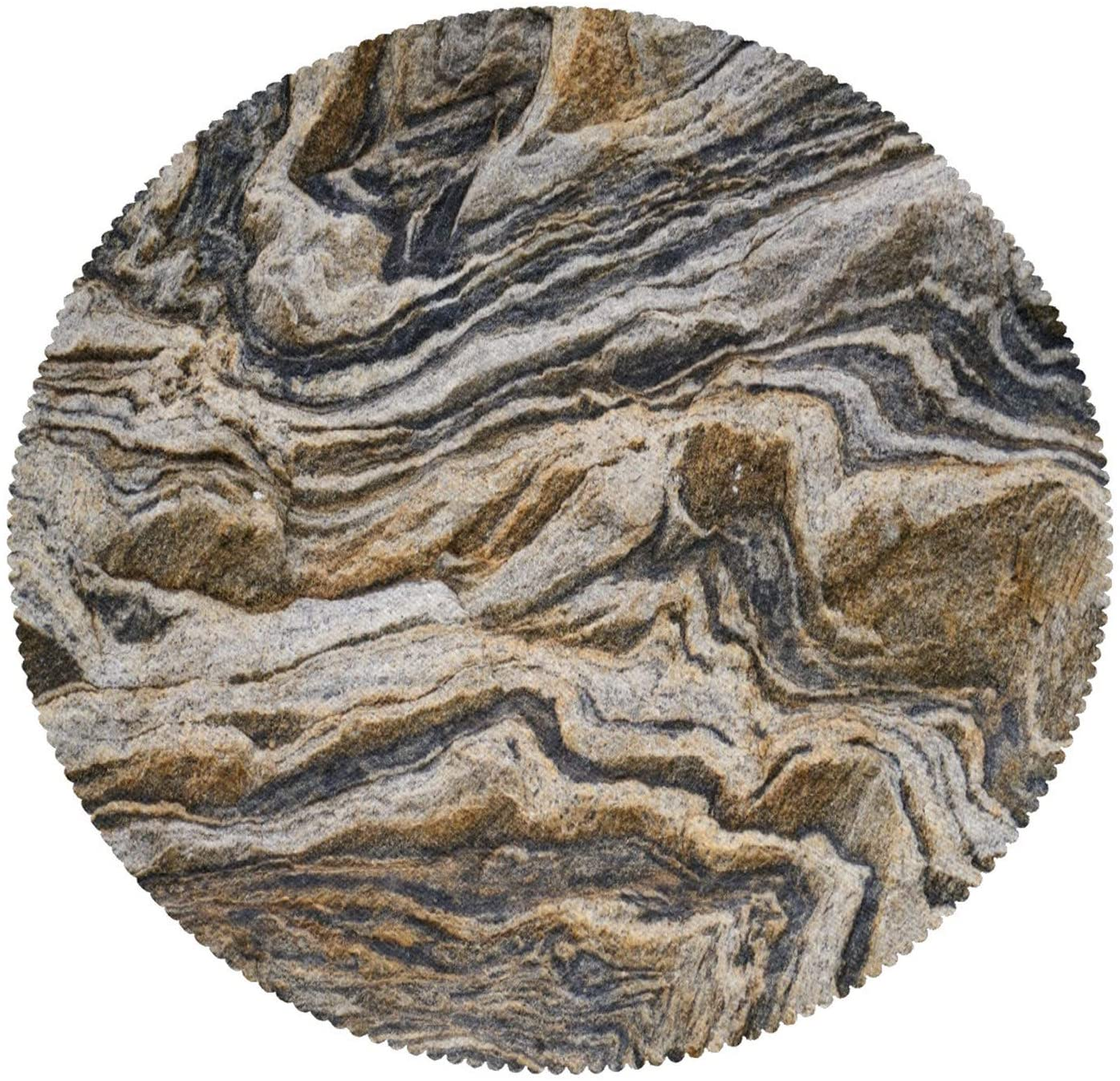 Noah's Ark Texture Brown Marble Abstract Pattern Placemats Heat-Resistant Table Mat Washable Stain Resistant Anti-Skid Polyester Place Mats for Kitchen Dining Table Decoration Set of 6
