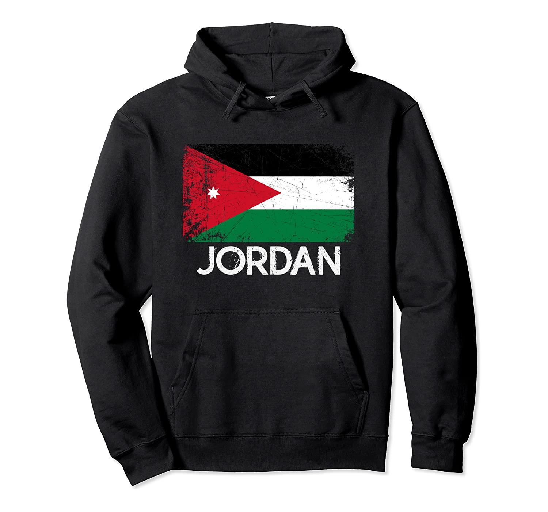 Jordanian Flag | Vintage Made In Jordan Gift Pullover Hoodie