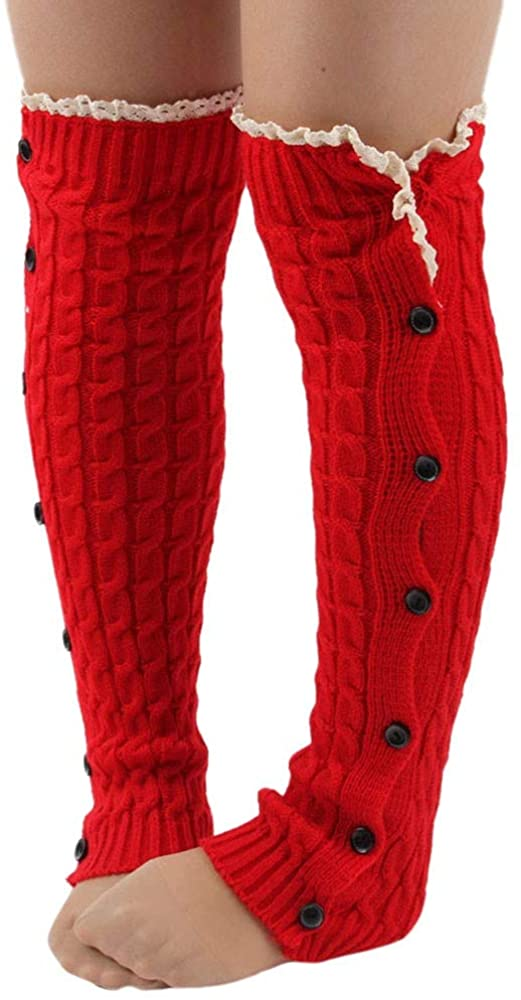 MmNote Women Knitted Jacquard Boot Cuffs Toppers Leg Warmers Socks Fashion Leg Warmers Boot Cover