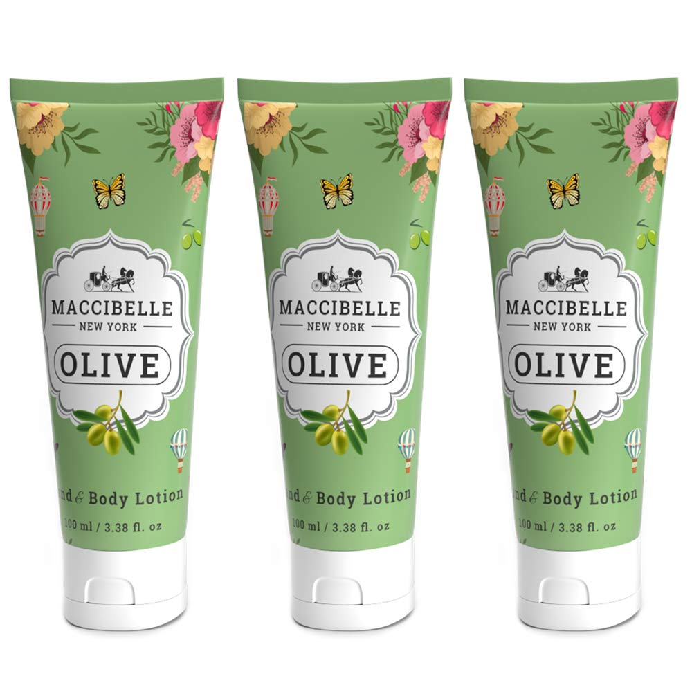 Maccibelle Olive Oil Hand & Body Lotion 100 ml Made in Korea 3 pcs