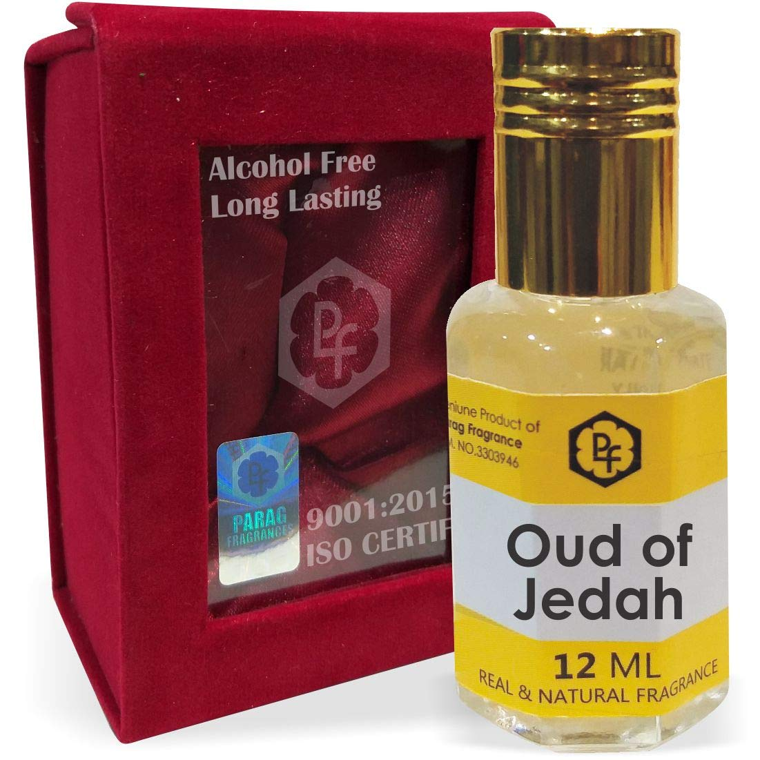 Parag Fragrances Oud of Jedah Attar 12ml With Precious Gift Pack|Best Attar For Man|Long Lasting Attar|Ittar|Attar|Perfume|Fragrance Oil|Gift For Man Also Available in 25ml/100ml/500ml