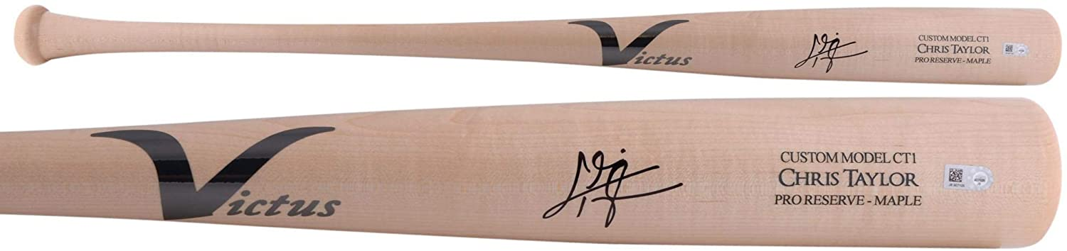 Chris Taylor Los Angeles Dodgers Autographed Victus Game Model Bat - Autographed MLB Bats