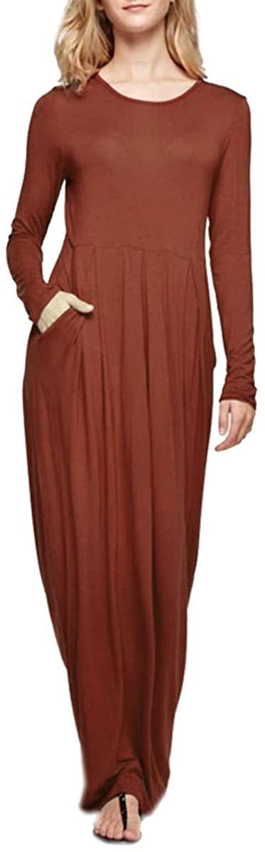 Cambridge Select Juniors' Long Sleeve Solid Maxi Dress